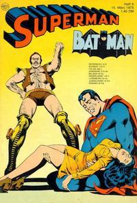 Cover Thumbnail for Superman (Egmont Ehapa, 1966 series) #6/1975