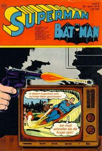 Cover Thumbnail for Superman (Egmont Ehapa, 1966 series) #9/1975