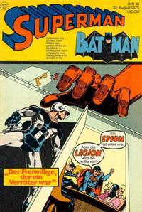 Cover Thumbnail for Superman (Egmont Ehapa, 1966 series) #18/1975