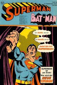 Cover Thumbnail for Superman (Egmont Ehapa, 1966 series) #19/1975
