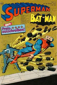 Cover for Superman (Egmont Ehapa, 1966 series) #24/1975