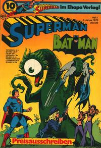 Cover Thumbnail for Superman (Egmont Ehapa, 1966 series) #1/1976