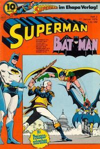 Cover for Superman (Egmont Ehapa, 1966 series) #2/1976