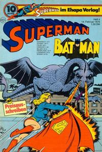 Cover Thumbnail for Superman (Egmont Ehapa, 1966 series) #4/1976