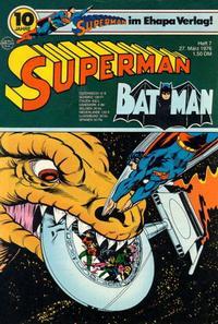Cover Thumbnail for Superman (Egmont Ehapa, 1966 series) #7/1976