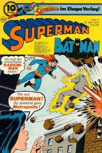 Cover Thumbnail for Superman (Egmont Ehapa, 1966 series) #11/1976