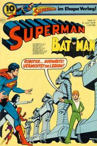 Cover Thumbnail for Superman (Egmont Ehapa, 1966 series) #12/1976