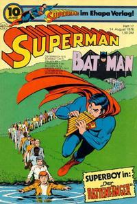 Cover Thumbnail for Superman (Egmont Ehapa, 1966 series) #17/1976