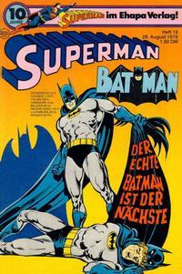 Cover Thumbnail for Superman (Egmont Ehapa, 1966 series) #18/1976