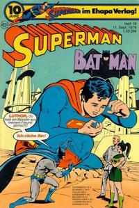 Cover Thumbnail for Superman (Egmont Ehapa, 1966 series) #19/1976