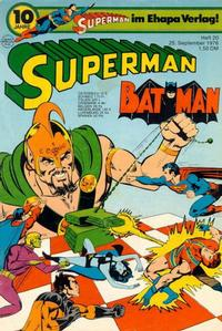 Cover Thumbnail for Superman (Egmont Ehapa, 1966 series) #20/1976