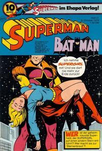 Cover Thumbnail for Superman (Egmont Ehapa, 1966 series) #21/1976