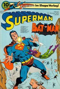 Cover Thumbnail for Superman (Egmont Ehapa, 1966 series) #22/1976