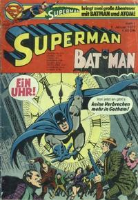 Cover Thumbnail for Superman (Egmont Ehapa, 1966 series) #1/1977