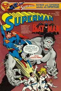 Cover Thumbnail for Superman (Egmont Ehapa, 1966 series) #3/1977