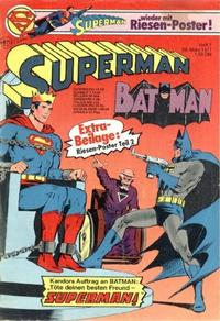 Cover Thumbnail for Superman (Egmont Ehapa, 1966 series) #7/1977