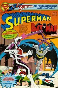 Cover Thumbnail for Superman (Egmont Ehapa, 1966 series) #15/1977