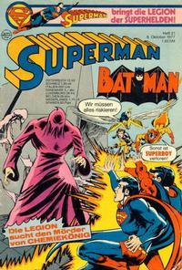 Cover for Superman (Egmont Ehapa, 1966 series) #21/1977