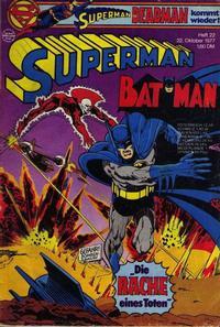 Cover Thumbnail for Superman (Egmont Ehapa, 1966 series) #22/1977
