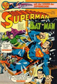 Cover Thumbnail for Superman (Egmont Ehapa, 1966 series) #4/1978