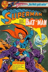 Cover Thumbnail for Superman (Egmont Ehapa, 1966 series) #8/1978