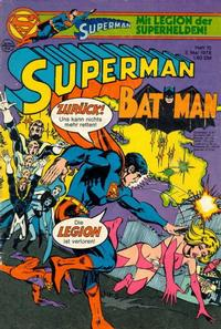 Cover Thumbnail for Superman (Egmont Ehapa, 1966 series) #10/1978