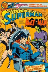 Cover Thumbnail for Superman (Egmont Ehapa, 1966 series) #13/1978
