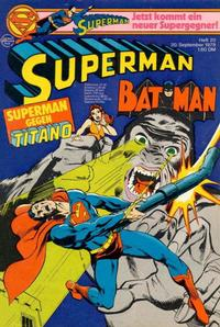 Cover for Superman (Egmont Ehapa, 1966 series) #20/1978