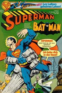 Cover Thumbnail for Superman (Egmont Ehapa, 1966 series) #21/1978