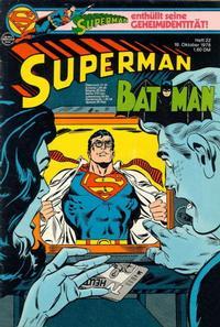 Cover Thumbnail for Superman (Egmont Ehapa, 1966 series) #22/1978