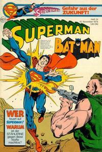 Cover Thumbnail for Superman (Egmont Ehapa, 1966 series) #24/1978