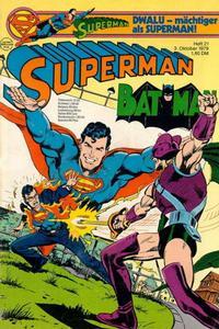 Cover Thumbnail for Superman (Egmont Ehapa, 1966 series) #21/1979