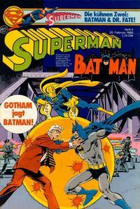Cover Thumbnail for Superman (Egmont Ehapa, 1966 series) #4/1980