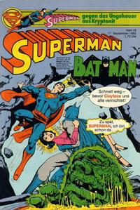 Cover for Superman (Egmont Ehapa, 1966 series) #19/1980