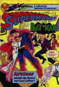 Cover Thumbnail for Superman (Egmont Ehapa, 1966 series) #25/1980