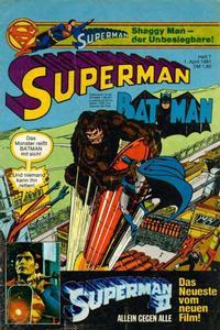Cover Thumbnail for Superman (Egmont Ehapa, 1966 series) #7/1981