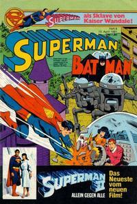 Cover Thumbnail for Superman (Egmont Ehapa, 1966 series) #8/1981