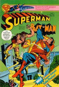 Cover Thumbnail for Superman (Egmont Ehapa, 1966 series) #11/1981