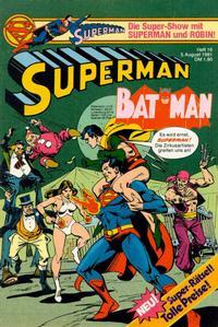 Cover Thumbnail for Superman (Egmont Ehapa, 1966 series) #16/1981