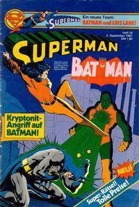 Cover Thumbnail for Superman (Egmont Ehapa, 1966 series) #18/1981