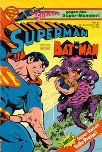 Cover Thumbnail for Superman (Egmont Ehapa, 1966 series) #20/1981