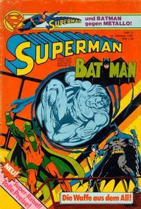 Cover Thumbnail for Superman (Egmont Ehapa, 1966 series) #21/1981