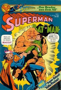 Cover Thumbnail for Superman (Egmont Ehapa, 1966 series) #1/1982