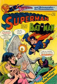 Cover Thumbnail for Superman (Egmont Ehapa, 1966 series) #4/1982