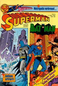 Cover Thumbnail for Superman (Egmont Ehapa, 1966 series) #6/1982