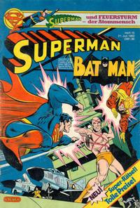 Cover Thumbnail for Superman (Egmont Ehapa, 1966 series) #15/1982