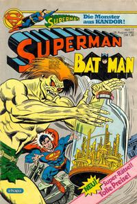 Cover Thumbnail for Superman (Egmont Ehapa, 1966 series) #17/1982