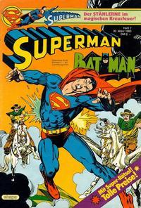 Cover Thumbnail for Superman (Egmont Ehapa, 1966 series) #7/1983