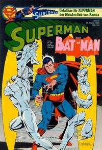 Cover Thumbnail for Superman (Egmont Ehapa, 1966 series) #6/1985