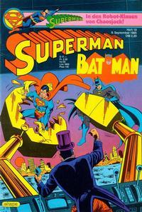 Cover Thumbnail for Superman (Egmont Ehapa, 1966 series) #19/1985